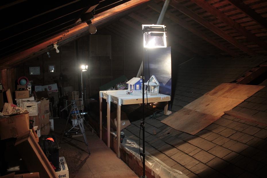 My attic studio