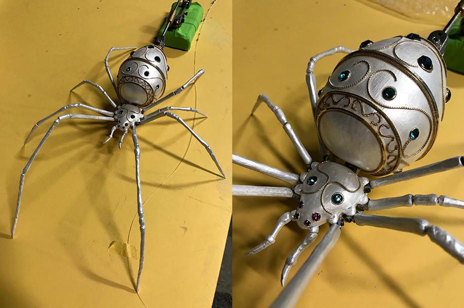 Spider.  weaving