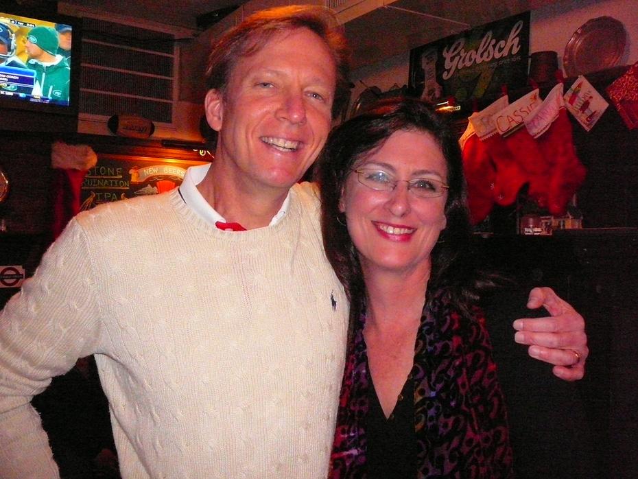 With Emmy Award winning journalist, N.J. Burkett enjoying some down time