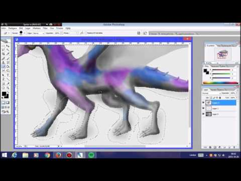 Photoshop speed paint (dragons)