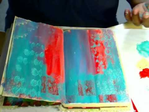 MAY 2 2011 UnityTV Episode #9, Creating an Art Journal Background, Unity Stamp Co.