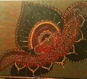 more henna design on a  bigger canvas!