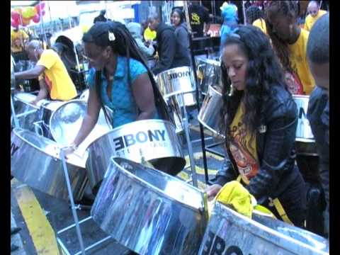 Ebony steel Pan Panorama Notting Hill Carnival 2010