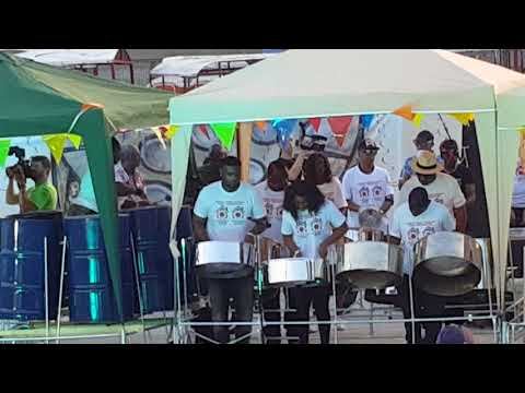 Forest Creek Steel Orchestra Playing Sokah