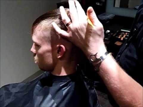 Men's Modern Pompadour step by step haircut and styling video
