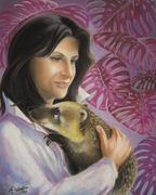 Selfportrait with coati  :o))