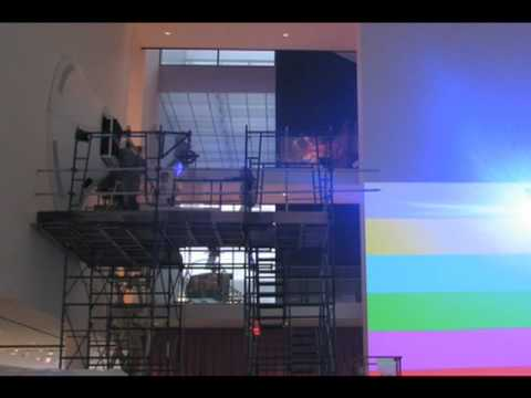 Installation of Pipilotti Rist: Pour Your Body Out (7354 Cubic Meters), MoMA