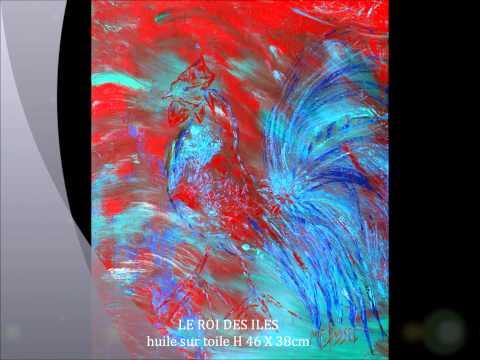 MARIE-FRANCE BUSSET EXPOSE au MUSEE DU COQ GALLINOTHEQUE CHATEAU DE PANLOUP 03400 YZEURE.wmv