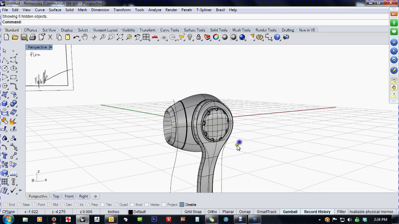 Modeling Ear Buds in Rhino with Kyle Houchens