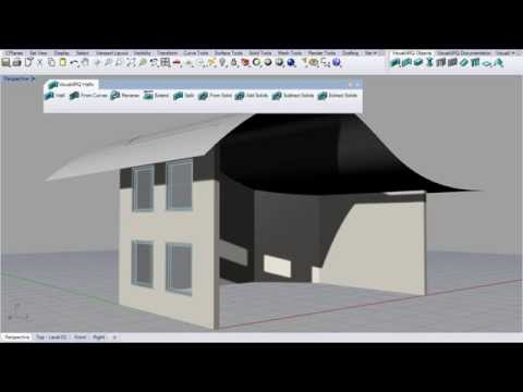 VisualARQ, Extend Walls to a Surface.