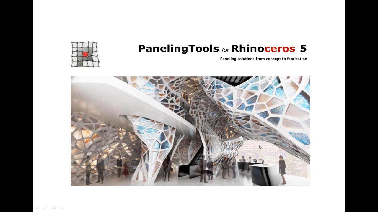 Introduction to PanelingTools for Rhinoceros 5