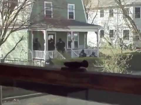 Police perform house-to-house raids in Watertown MA ripping innocent families from their homes