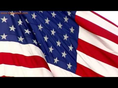 American flag close up and moving in slow motion 1 - youtube.com/tanvideo11