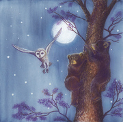 Illustration for children book - White tiger