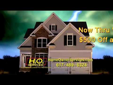 H.O. Services, Generator, Electrical, Plumbing, Heating, Cooling, Belmont, Lexington, Arlington, MA