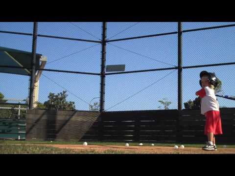3 Year Old Hitting Baseballs.   A Little Batting Practice for Baseball Prodigy Brody Connors