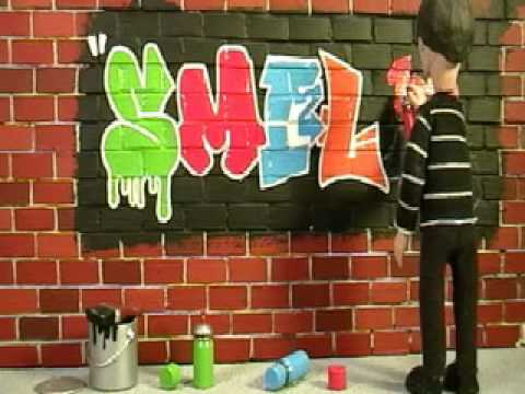 """Smile"" - Graffiti - Short Animation Clip"