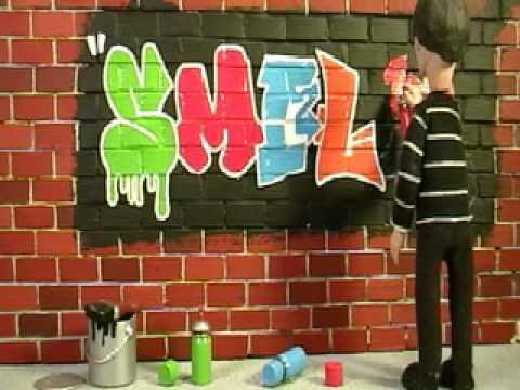 """Smile"" - Graffiti - Short Animation Clip"