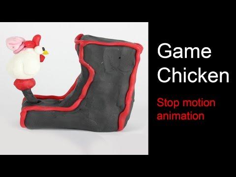Game Chicken #1 Chicken brain Stop Motion Animation