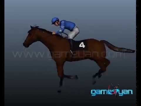 3D Horse Riding Quadruped Character Modeling by Gameyan Rigging Animation Studio - New York, USA