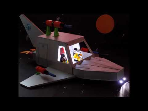 Zey The Mouse Sci Fi Spaceship Robot and Newspaper Articles