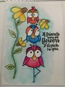 funky birds Card