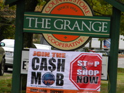 Cash Mob hit at the The Grange!