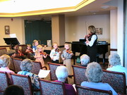 Young, beginner fiddlers