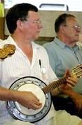 Bruce playing cavaquinho banjo