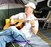 Bruce playing guitar