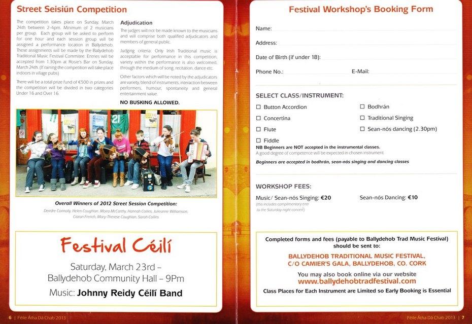 Ballydehob Tradfest Brochure