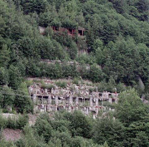 AJ Mine shafts on Mt. Roberts
