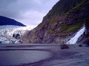 Nugget Falls by Mendenhall Glacier