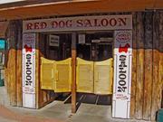 Famous Red Dog Saloon swinging doors