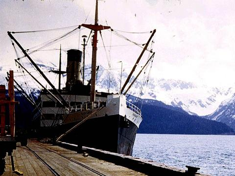 SS Baranof at Seward's Resurrection Bay circa 1952