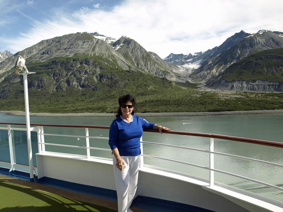Shirley Schmidt at Glacier Bay 2011