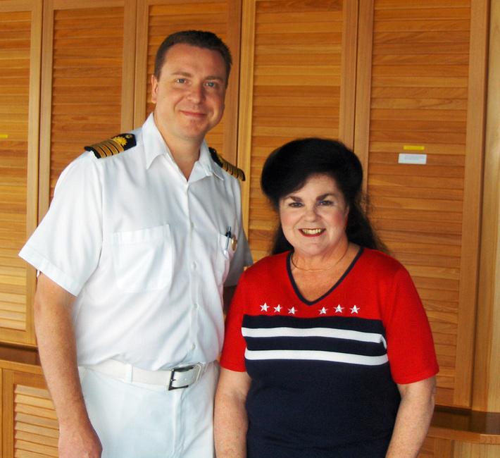 Shirley Schmidt with Captain Craig 2009
