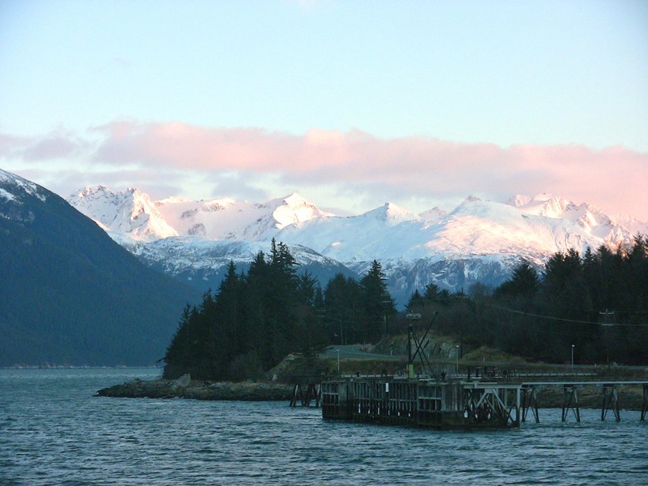 Haines ferry dock