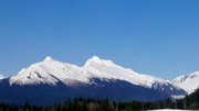 Fresh snow near glacier