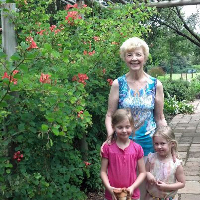 Botanical Garden with two little missionary girls from Mississippi