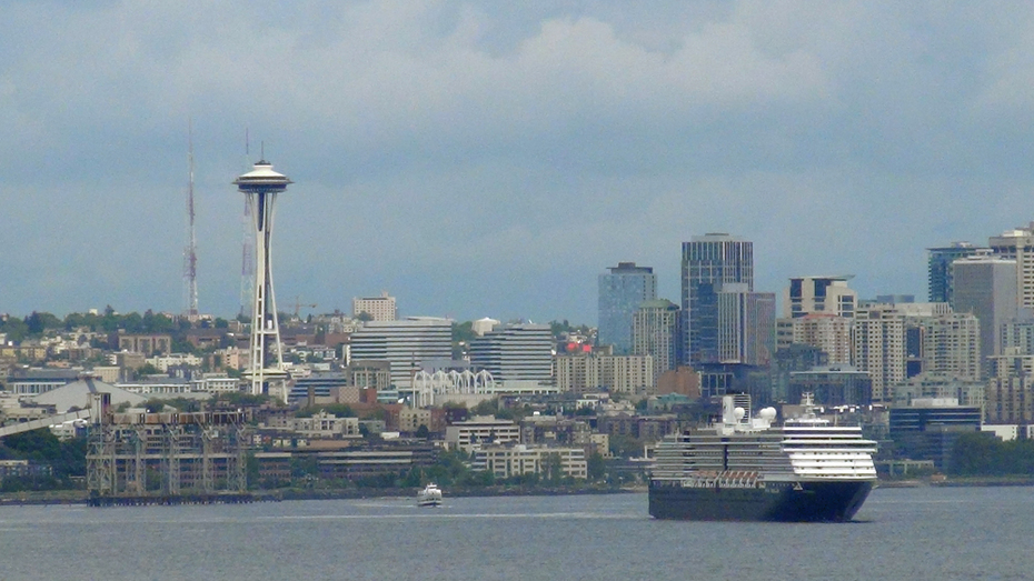 Space Needle and wharf