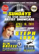 SUPER STAR SUNDAYS ARTIST SHOWCASE APRIL 10TH @ CLUB IGUANA NYC HOSTED BY STEPH LOVA PT # 1