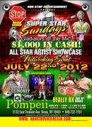 SUPER STAR SUNDAYS GLADIATORS OF THE MIC ARTIST SHOWCASE JULY 22,2012 POMPEII LOUNGE BX HOSTED BY SIRIUS XM MZ STYLEZ
