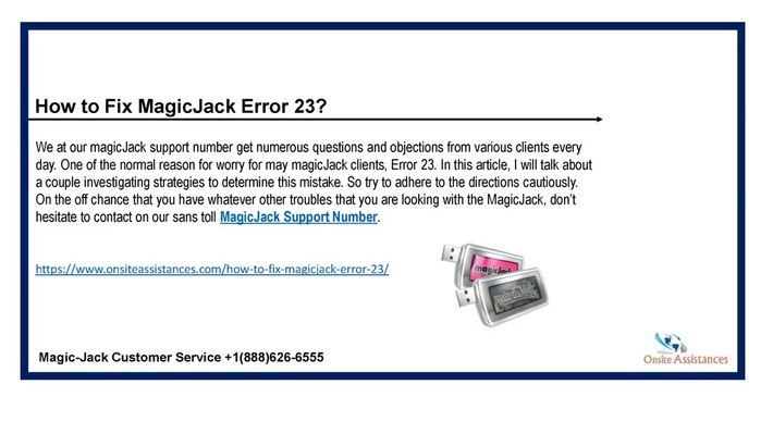MagicJack support number | +1(888)626-6555 | Magicjack customer service