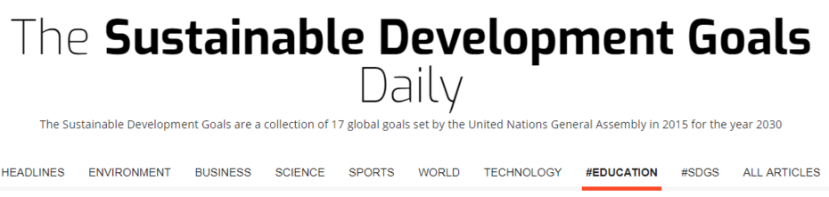 Sustainable Development Goals collection