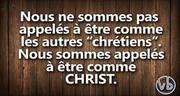 être comme Christ