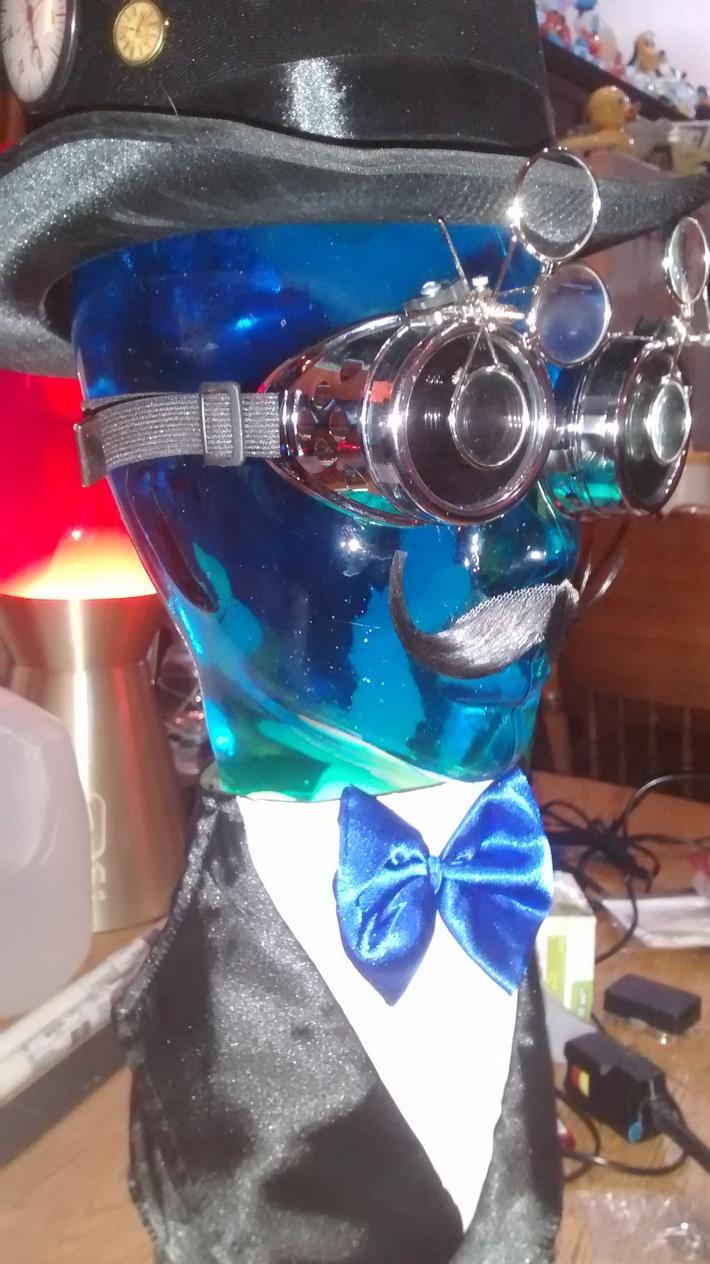 Custom Made Steampunk lava head (Left Side)