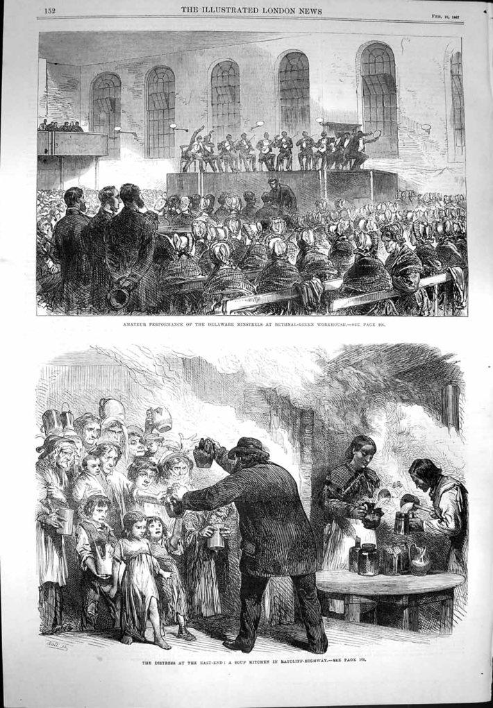 Deleware Minstrels, ILN, Feb 1867