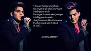 Adam Lambert Forever In Our Hearts. <3