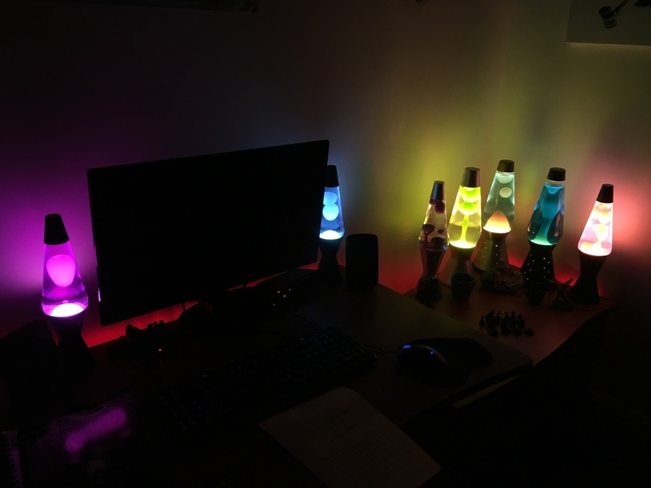 Pink + Blue Chinese Lamps